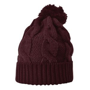 Richardson� Chuck Twist Knit Beanie w/Cuff (Embroidery)