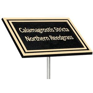 Cast Aluminum Outdoor Plaque-Stake Mount 6x8 - Brown/Gold